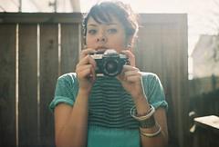 Kneesee: Shooter (lola smalls) Tags: film 35mmfilm nikonfm10 analogphotography minoltasrt101 girlphotographer 21mc kneeseespieces photographerdenysmeak