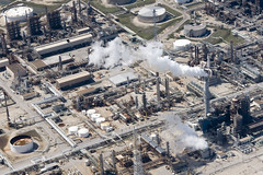 Refineries (baldheretic) Tags: port flying downtown houston aerialphotography shipchannel houstonist