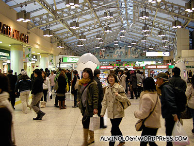 Inside Ueno Station