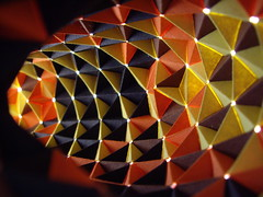 looking inside unfinished torus (Dasssa) Tags: origami modular torus paperstrips knotology