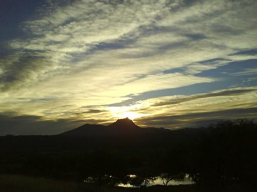 El amanecer de Peñon Blanco
