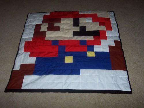 Mario part of the Mario/Luigi quilt