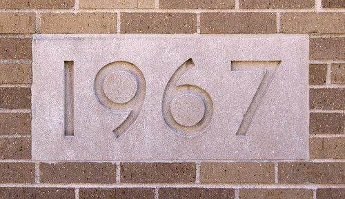 Former Passionist monastery, at the University of Missouri - Saint Louis, in Normandy, Missouri, USA - cornerstone 1967