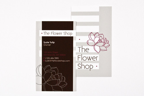 The Flower Shop Business Card