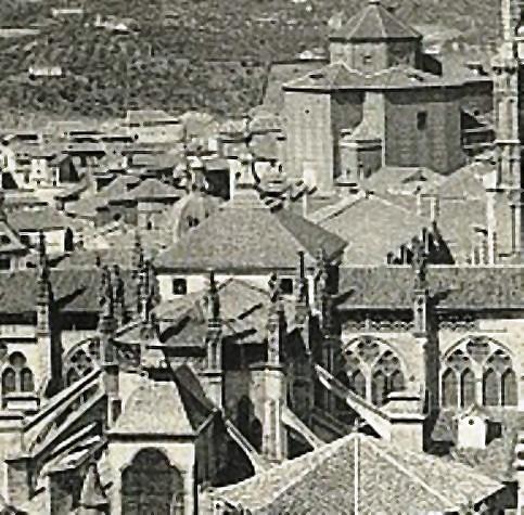 Cimborrio de la Catedral de Toledo en 1907. Foto Hauser y Menet