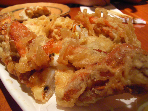 Soft-shell crab tempura with ponzu citrus sauce @ Sake Bar Hagi by you.