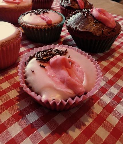 Sunday's vagina fairy cakes