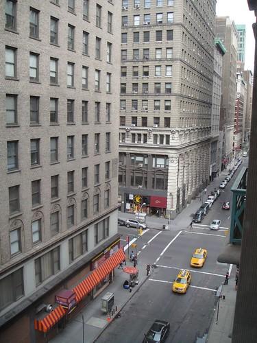 Dalla finestra dell'albergo