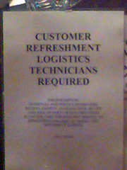 Customer refreshment logistics technicians required