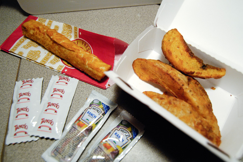in this Taquito and Potato Wedge meal from 7-Eleven at Lombard & Denver,