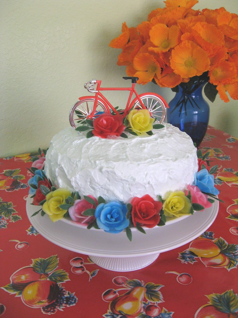 happy memorial day! campy  cotten candy coconut cake