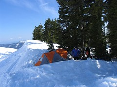 Camp among the trees at 5400 feet on the Railroad Grade
