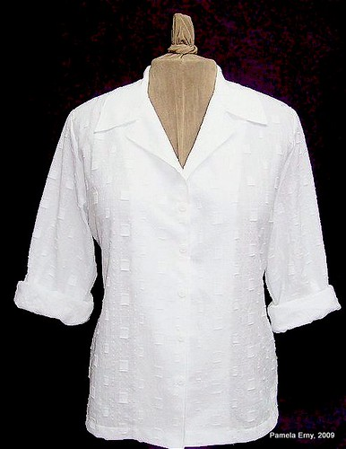 Pam's White Blouse