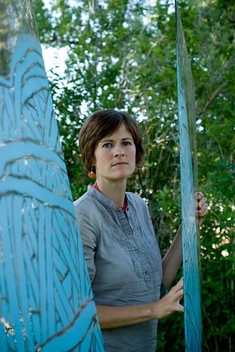 1 of 3 yarn on glass: Ashley