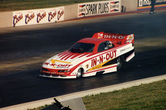 Mark Oswald - 1996 (twm1340) Tags: drag colorado 1996 denver racing burgers co morrison innout racer speedway dragster milehigh funnycar nhra bandimere markoswald