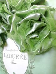 vert-ladurée (LnaMvoilà) Tags: flowers verde green handmade vert fiori tulle stoffa ladurée raso fiorellini filicalzettiemerletti fleursentissu