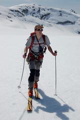 Bram starting the long slog across the flat glacier (RichSo) Tags: mountain snow ski spring corn skiing tour bc peak backcountry bluebird squamish slog exodus