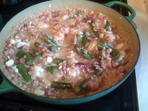 asparagus and feta risotto