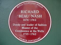Photo of Richard 'Beau' Nash claret plaque