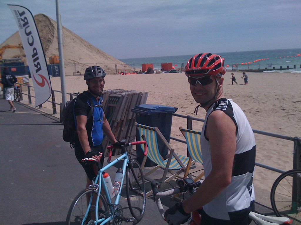 Mark and Rich at Boscombe pier and pyramid
