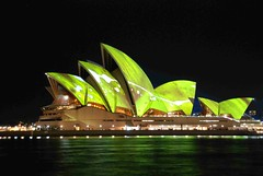 light colours projection opera house australia