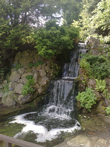 The cascade at Rookery Manor - a waterfall