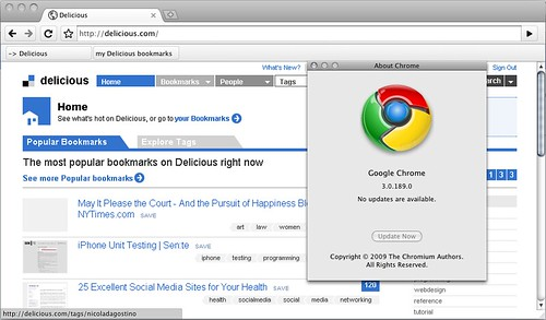 Chrome Delicious hack