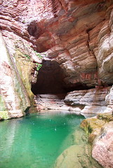 Whispering Falls - Grand Canyon (Al_HikesAZ) Tags: park trip arizona pool creek nationalpark whispering hiking grandcanyon grand canyon hike falls rafting national grotto raft slot azra kanab slotcanyon inthecanyon  grandcanyonnationalpark gcnp  kanabcreek azwexplore alhikesaz whisperingfalls   gc2009 belowtherim arizonaraftadventures