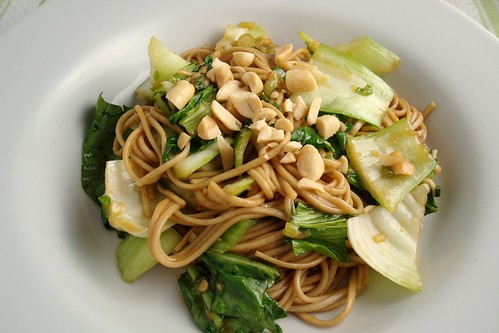 Stir Fried Bok Choy with Soba Noodles