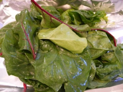 Braising Greens from My CSA