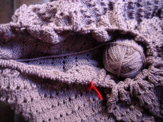 Blanket? perhaps knitting bag?