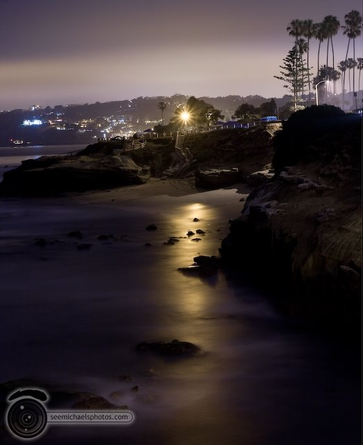 La Jolla Children's Pool at Night 70309 © Michael Klayman-007