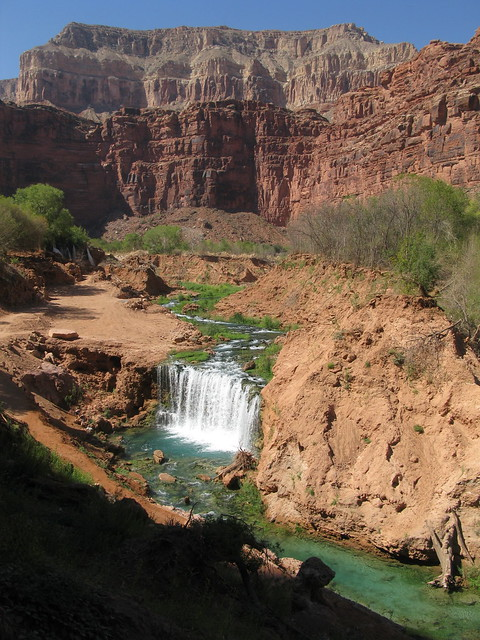 new navajo falls and rock falls