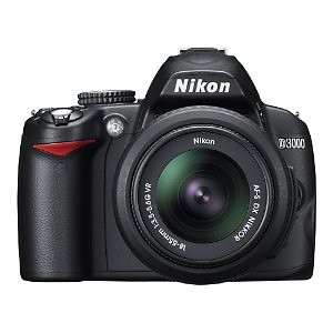 @ Nikon D3000 10.2MP Digital SLR Camera with 18-55mm f/3.5-5.6G AF-S DX VR Nikkor Zoom Lens ✔