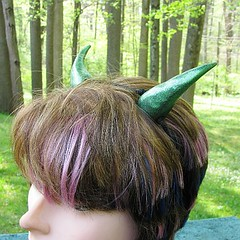Gold-Green Dragon Costume Horns