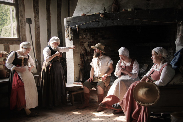 Kentwell Hall - Baking kitchen