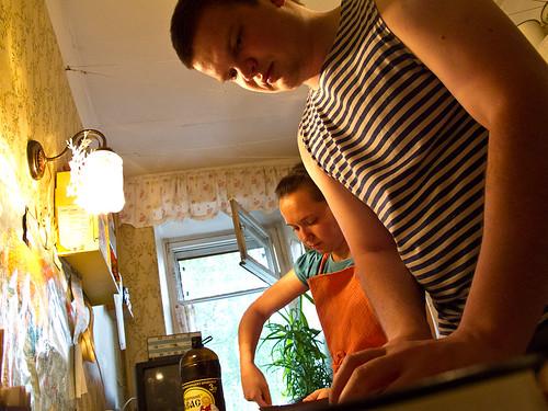 Olga + Dmitriy cooking