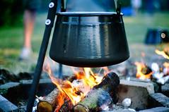 fire (nllo) Tags: wood fire flames pot kettle campfire flame bonfire barbecue jar