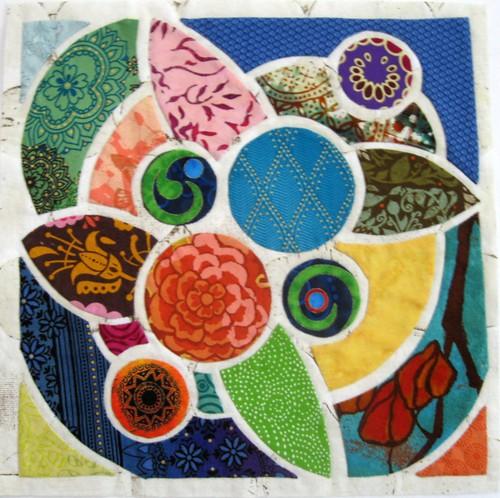 Lotus Tile Quilt Block