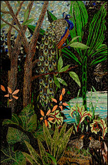 tinysanct (Showcase Mosaics) Tags: mosaic peacock partridges