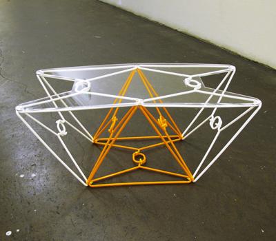 Delicieux Coat Hanger Table Plastic Coat Hangers, Zip Ties, Laser Cut Acrylic  Designed/made By Nick DeMarco, Demarconia.com