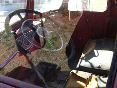 Ghost riders (To the Core) Tags: antique firetruck steeringwheel micanopyflorida