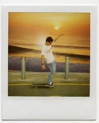 Barun Cruising Polaroid (nick jung) Tags: polaroid skateboard barun chatterjee