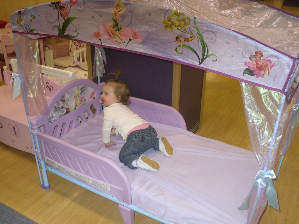 Kyra in her future bed.