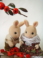 there! (aatikue) Tags: bunnies pie dolls rabbits applepie houseonthehill sylvanianfamily bunnyapplepie themakingofapplepie