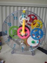 Build a clock (lisibo) Tags: clock transparent cogs
