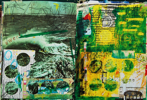 La Mer - art journal spread (copyright Hanna Andersson)