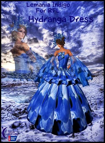 Lemania Indigo Hydranga dress