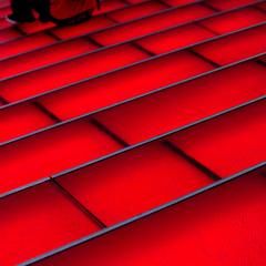 [  What    Luck  ] (.I Travel East.) Tags: nyc newyorkcity red newyork texture glass lines stairs nikon geometry timessquare minimalism nikkor cgb bigapple dilettante 70200mmf28 mikedumlao mdumlao98 whatluck ministract smoothred solidcgb pengdumlao rozewicztadeusz redistheultimatecureforsadness~billblass redtancho