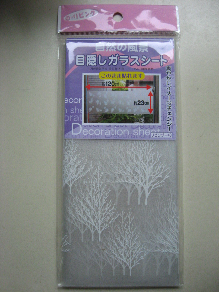 window decoration sheet- Daiso
